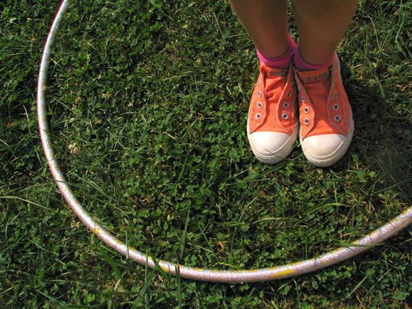 hula hoop on the grass