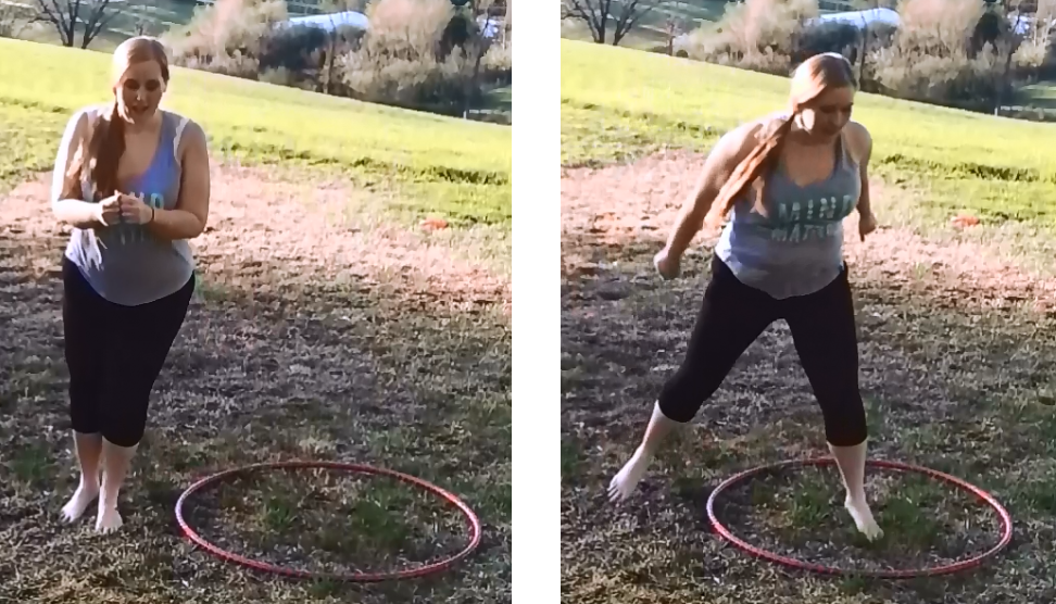 hula hooping exercise routine jump 1