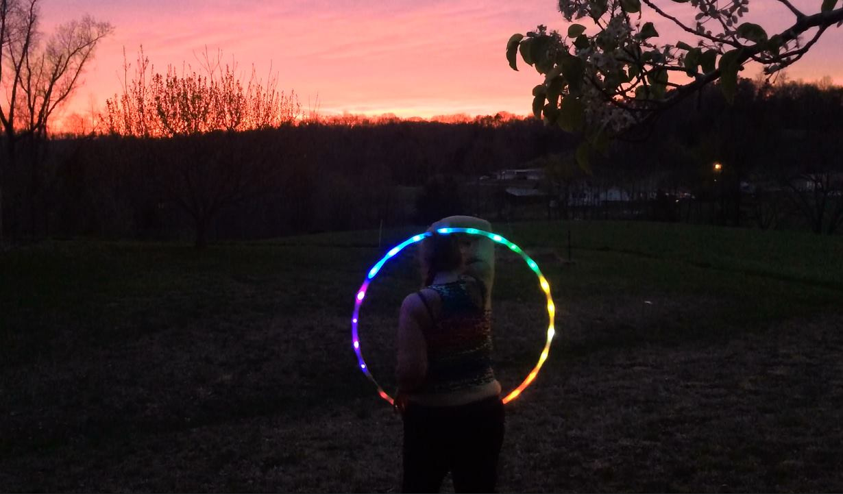 led hula hoop affordable