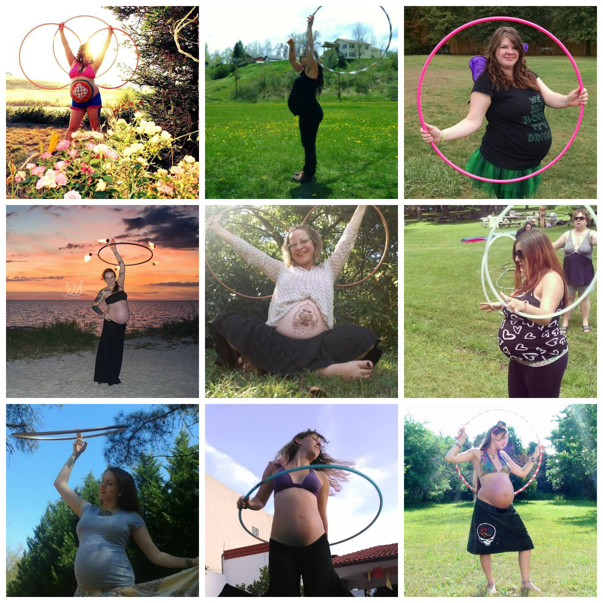 hula hooping while pregnant