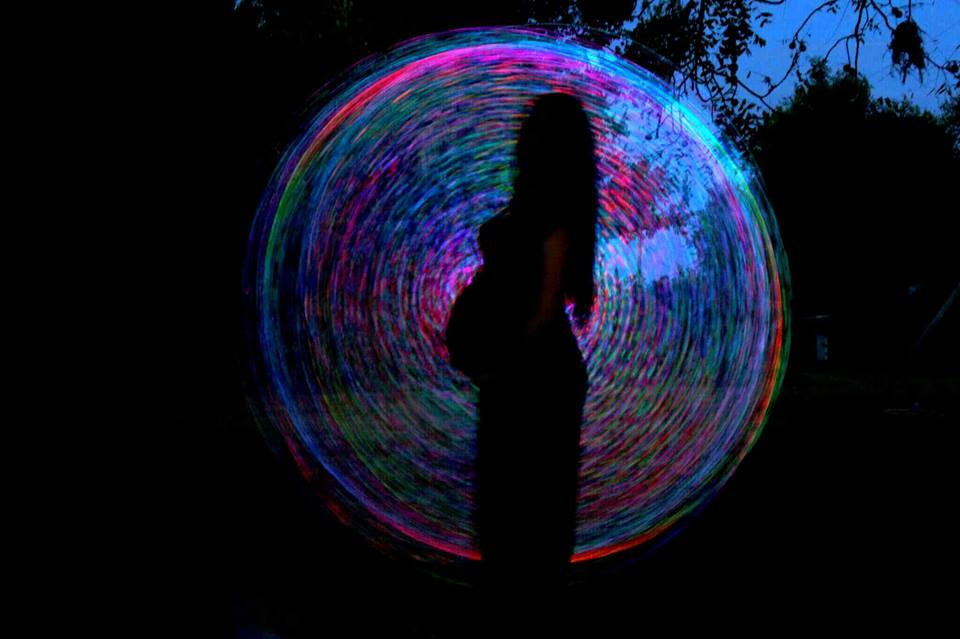 led hula hooping while pregnant