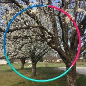 tri color polypro hula hoop