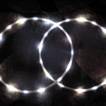 white led hoop pair