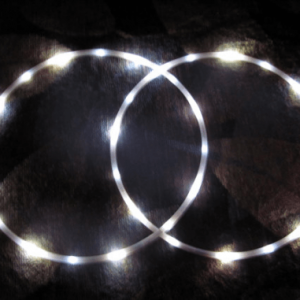 white led hoop pair