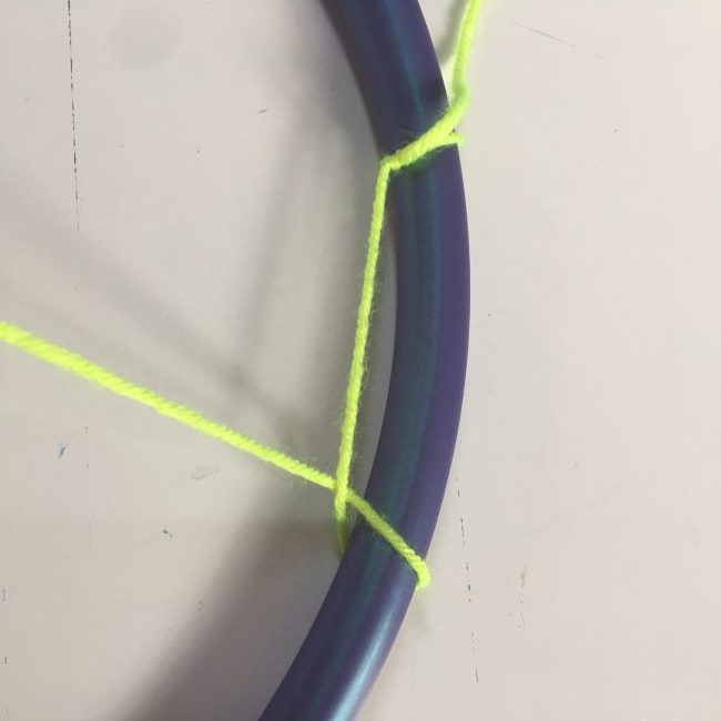 how to make a hula hoop dreamcatcher