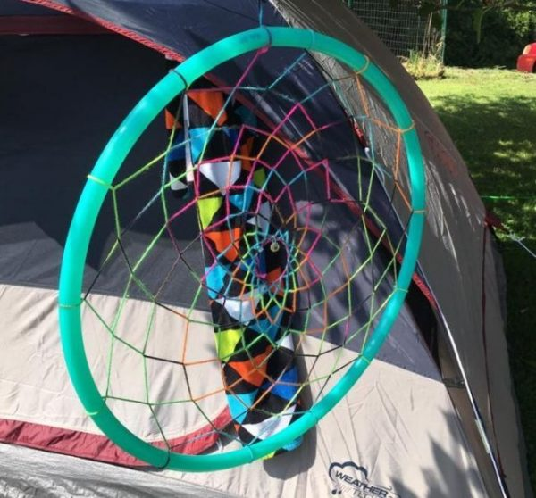 how to make a hula hoop dreamcatcher
