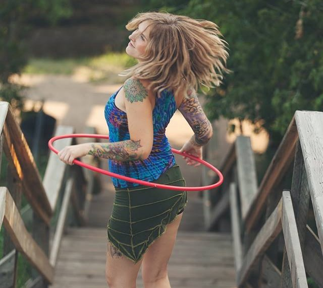 waist to lasso hula hoop trick