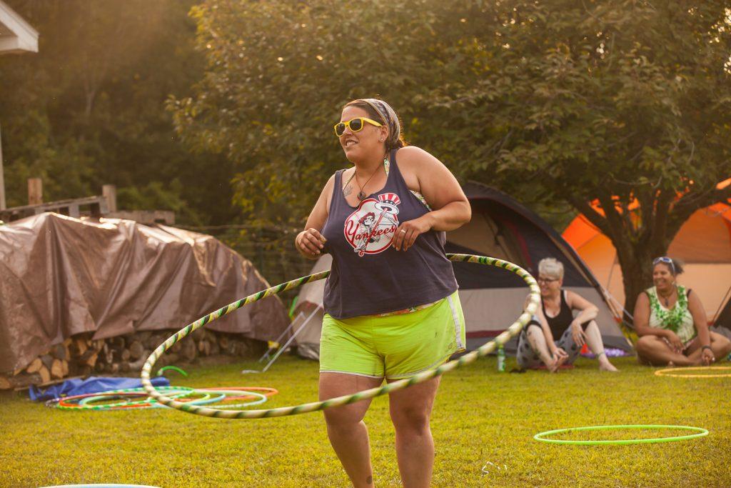 hula hooping hurts my waist